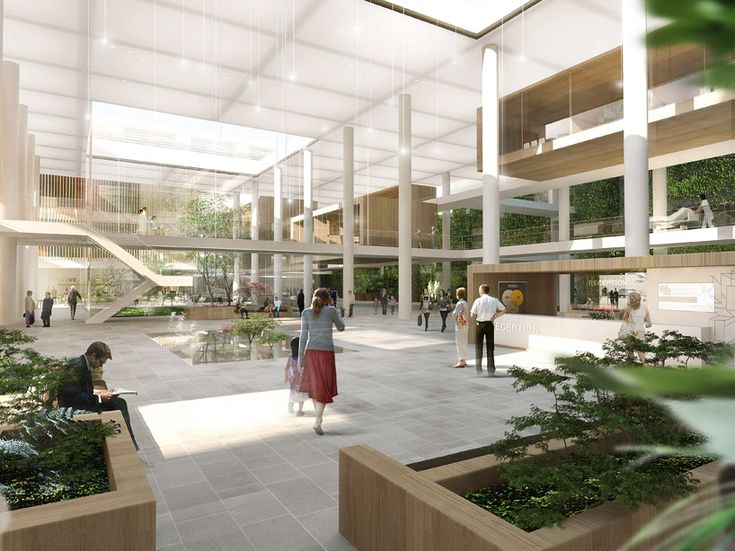 schmidt hammer lassen architects: allborg university hospital (plant framing rendering)