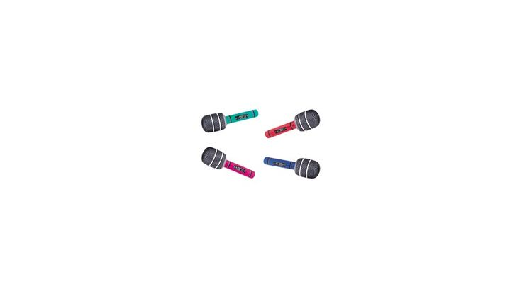Felfújható Óriás Mikrofon 76 cm-es - Hatalmas karaoke buli elem vagy jelmezbálhoz is felhasználható