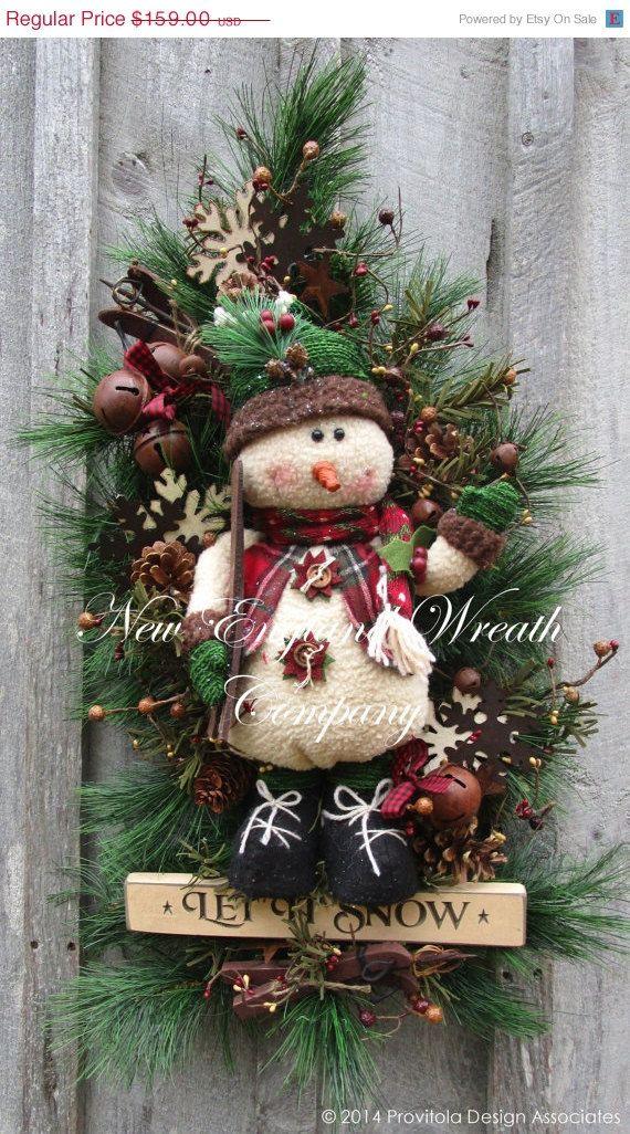 ON SALE Christmas Wreath Holiday Wreath by NewEnglandWreath