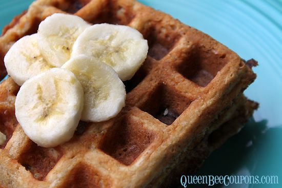 Banana, oatmeal, brown sugar waffles recipe (no syrup required!)
