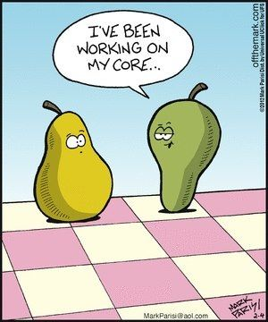 hehe very cute  For Pear's core workout go to this link:  http://www.sixpackfactory.com/advanced-home-workout-to-build-eye-popping-6-pack-abs/