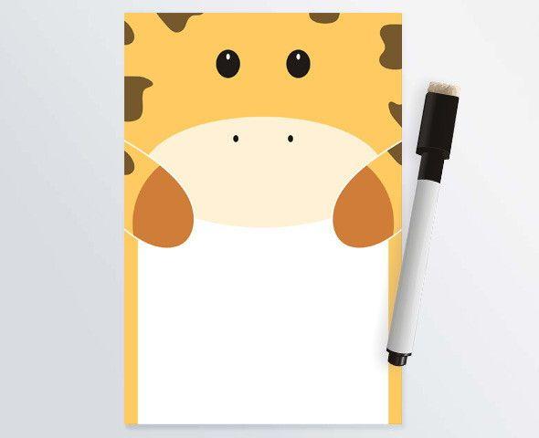 Lousa Magnética Girafa 14x20cm