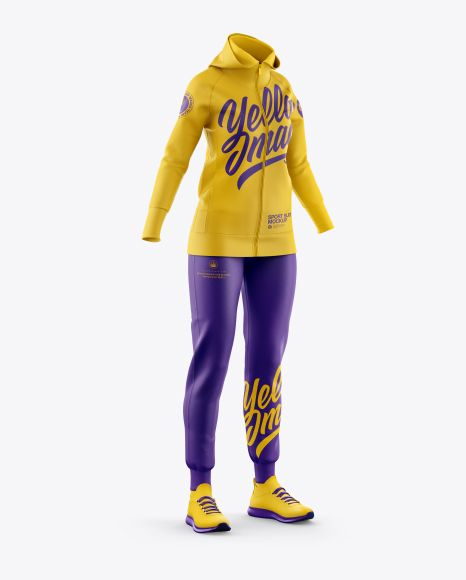 Download Women S Sport Suit Mockup Half Side View In Apparel Mockups On Yellow Images Object Mockups Clothing Mockup Shirt Mockup Sports Suit