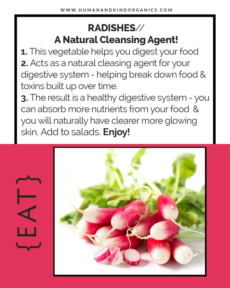 Radishes - A natural cleansing agent!