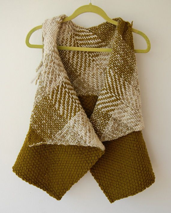 Natural tones sleeveless sweater by Ullvuna on Etsy, $120.00