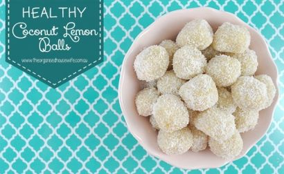 Healthy Coconut Lemon Balls : The Organised Housewife : Ideas for organising and Cleaning your home