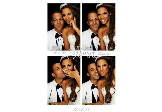 Rochelle and Marvin Humes crazy wedding photo booth. #Saturdays
