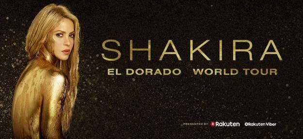 """Shakira Announces New """"El Dorado World Tour"""" Dates"""