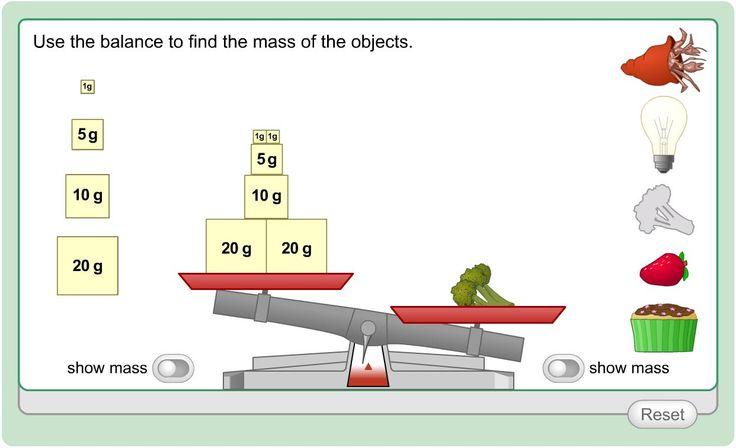 Measuring Mass » K12 - interactive math game for mass