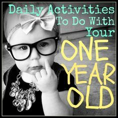 What to do with your 1 year old.....and a FREE printable daily checklist re-pinned from thewinsometoday