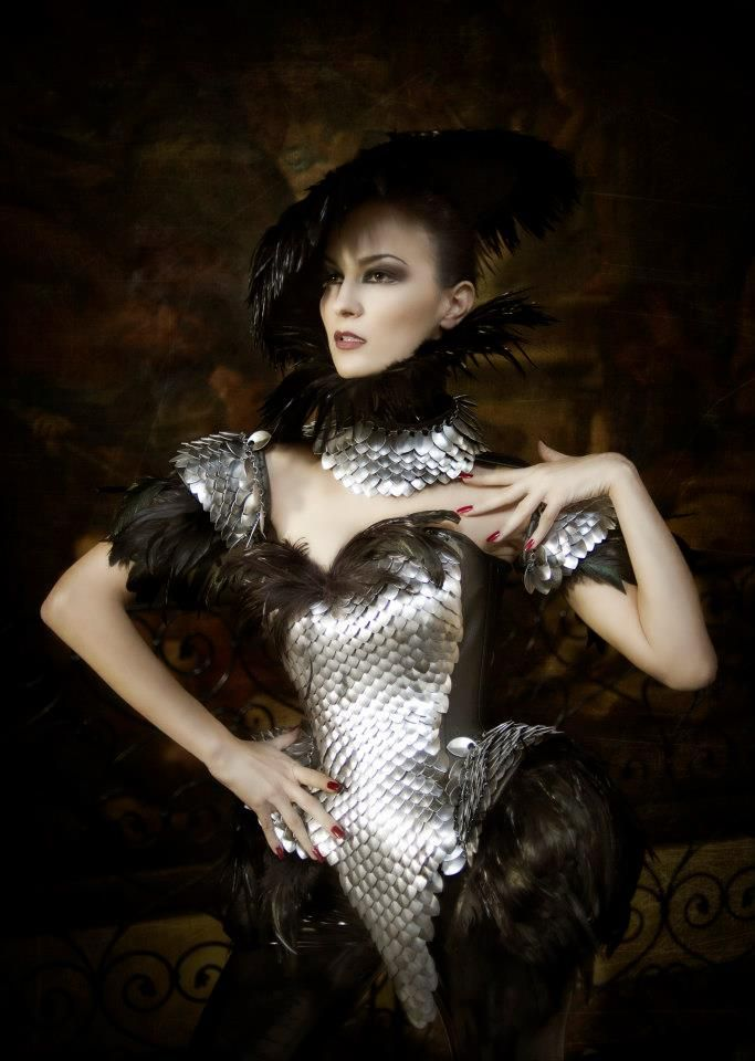 """Costume from an In Strict Confidence video...that is amazing. Nina de Lianin - """"Sirin"""", upon more searching on the net."""