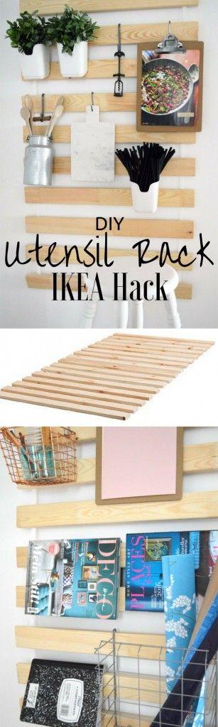 Check out the tutorial: #DIY Utensil Rack IKEA Hack @istandarddesign