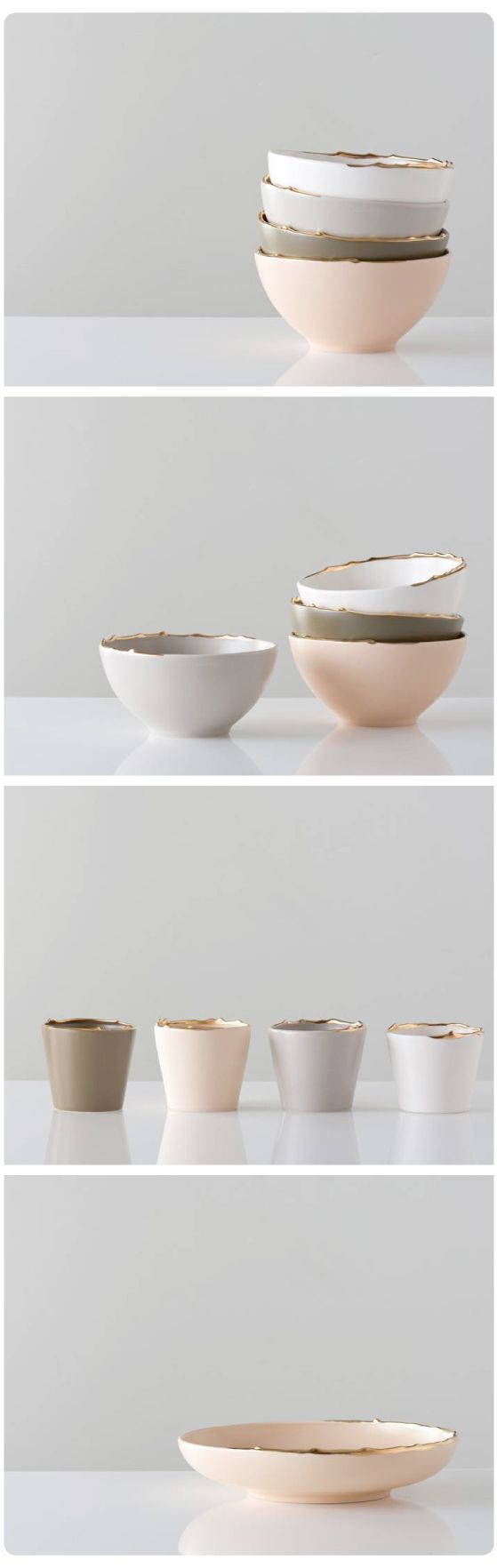 Muted neutral colors. Flawed Series by Studiomake.  Simply beautiful.