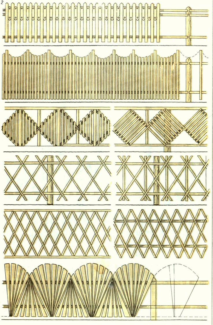 деревянный забор для дачи 1