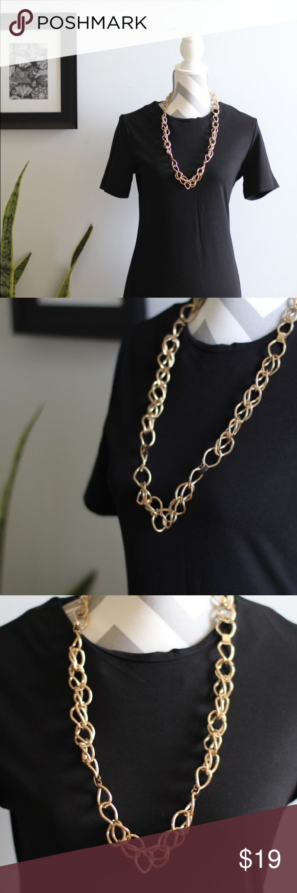 Chunky Gold Necklace Love this chunky gold piece; can style it in so many ways with so many outfits! Jewelry Necklaces