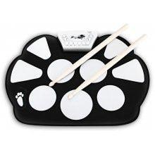 W758M USB Drum Kit PC Desktop Electronic Drum Pad with 2 Sticks Foot Pedals