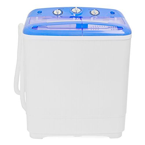 """Electric Mini Washer and Spin Cycle Portable Compact Washing Machine, 8 Lbs Capacity, 110Volt /60Hz, 280W Input Power:   Mini washer and dryer is deal for doing small load of delicate clothing, such as under garments, socks, towels and T shirt  The compact size is great for dorms, apartments, condos, motor homes, RV'S  8lbs load capacity, Voltage 110/60Hz, Input power: 280W  Dual function feature allows for a spin wash and spin dry at the same time  Overall Dimensions: 14-1/2""""(L) x 24""""..."""