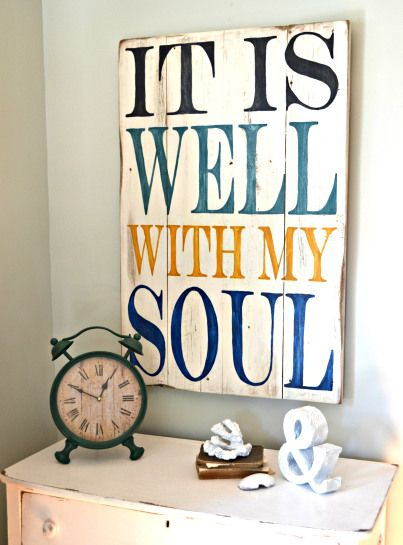 It is well with my soul | wood sign by Aimee Weaver Designs