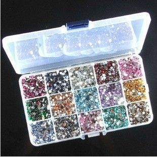 5mm acrylic diy bling rhinestones 15000pcs+storage box you pick colors | chriszcoolstuff - Craft Supplies on ArtFire http://www.artfire.com/ext/shop/product_view/6237715