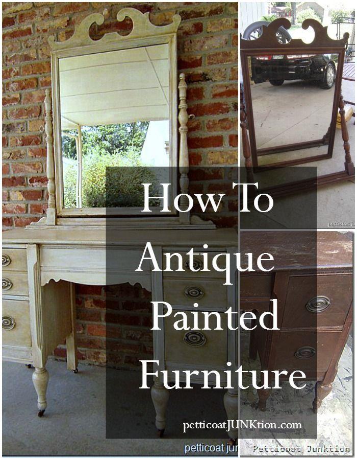 Best + Antique painted furniture ideas on Pinterest  Chalk