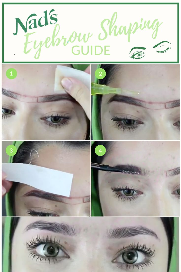 How To Groom And Wax Perfectly Shaped Brows Right At Home Nad S Eyebrow Shaper Makes
