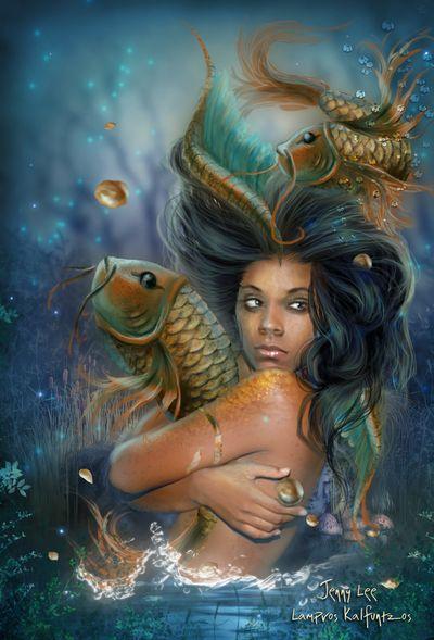 Black Women Art!, themermaidstudio: LOVE vertepetite: Goddess...