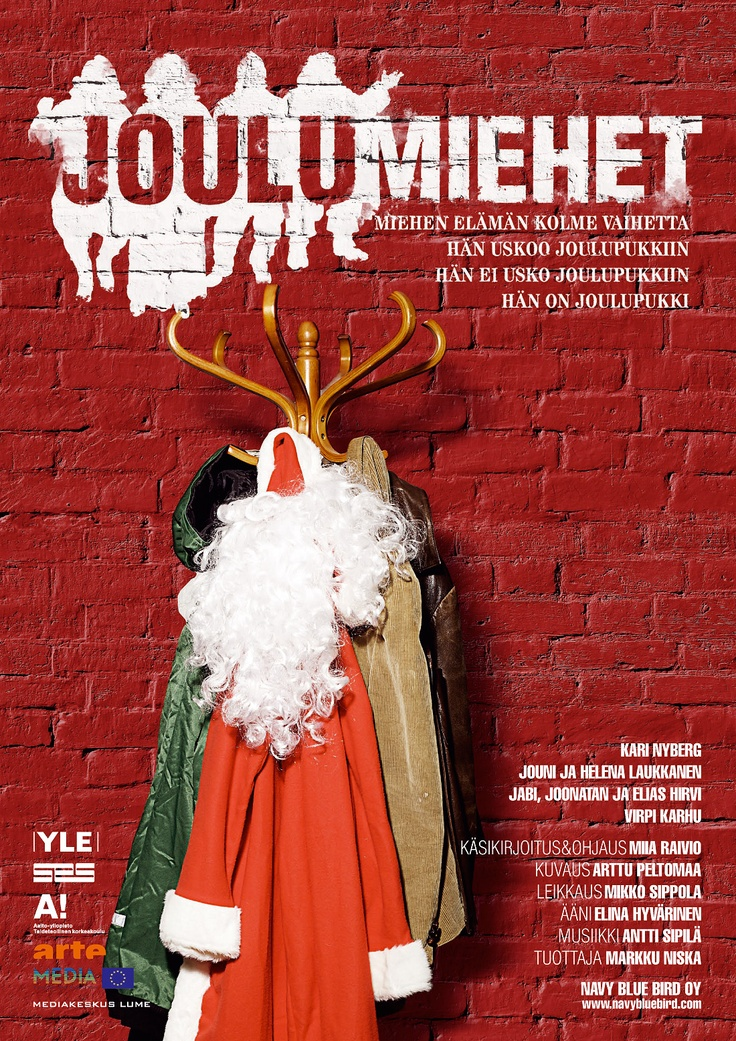 Joulumiehet (christmas men) - Poster and graphics for a documentary   Art direction, graphic design - Porfolio Erno Bärlund