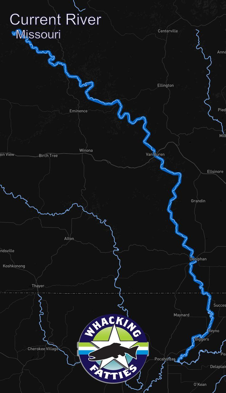 San Francisco Kaiser Map%0A Current River  Missouri fly fishing report  Check out Whacking Fatties for  the latest fly