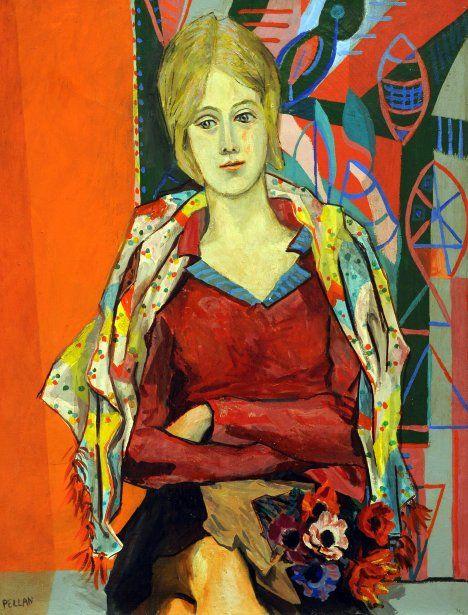 Alfred Pellan_jeune fille aux anénomes, 1932