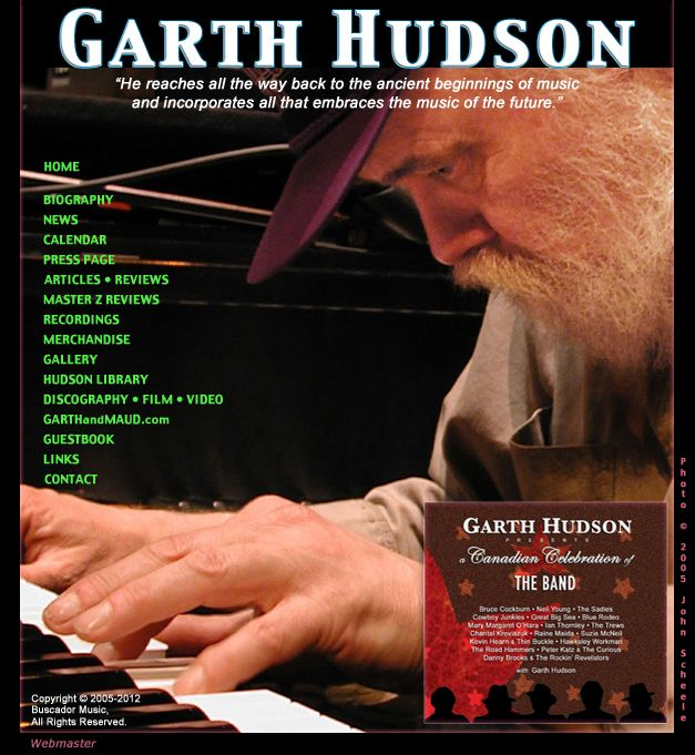 The Band | Garth Hudson - In December 1961, the 24-year-old Hudson joined The Hawks, the backing band. Upon joining The Hawks, Hudson also took the opportunity to negotiate a new Lowrey organ as part of his package. This is significant as he was one of the few organ players within the rock & roll/rhythm & blues community to pointedly eschew the Hammond organ.