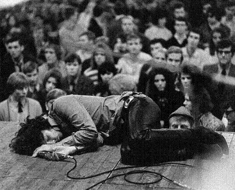 The lizard king during one of his performances.