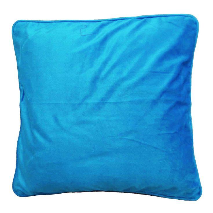 Plain Blue Color Velvet Cushion Cover. ..this is img