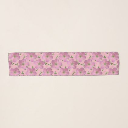 Botanical Pink Geranium Garden Flower Scarf - floral gifts flower flowers gift ideas