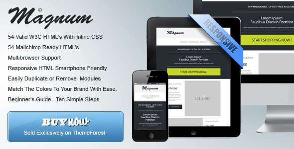 180 Absolute Best Responsive Email Templates - Magnum - Responsive HTML Email Templates