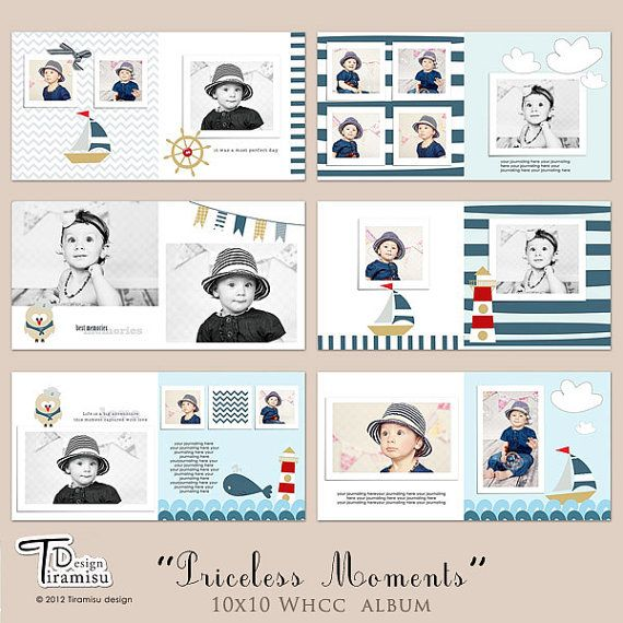10x10 Album, Photobook  Templates,  Priceless Moments, INSTANT DOWNLOAD