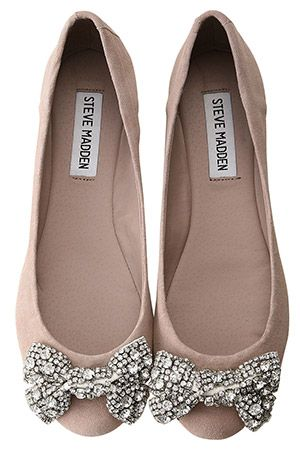 Steve Madden flats with sparkle bow