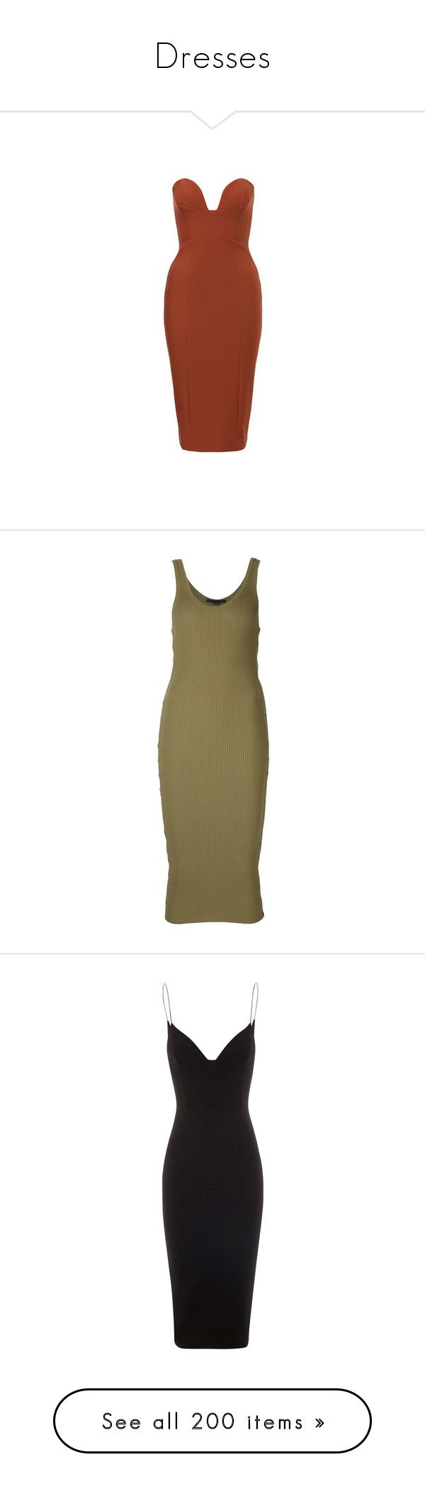 """""""Dresses"""" by simplefashionblack ❤ liked on Polyvore featuring dresses, brown strapless dress, strapless hi-low dresses, brown dresses, strapless dresses, high-low dresses, green, brown cocktail dress, fitted dress and tank dresses"""