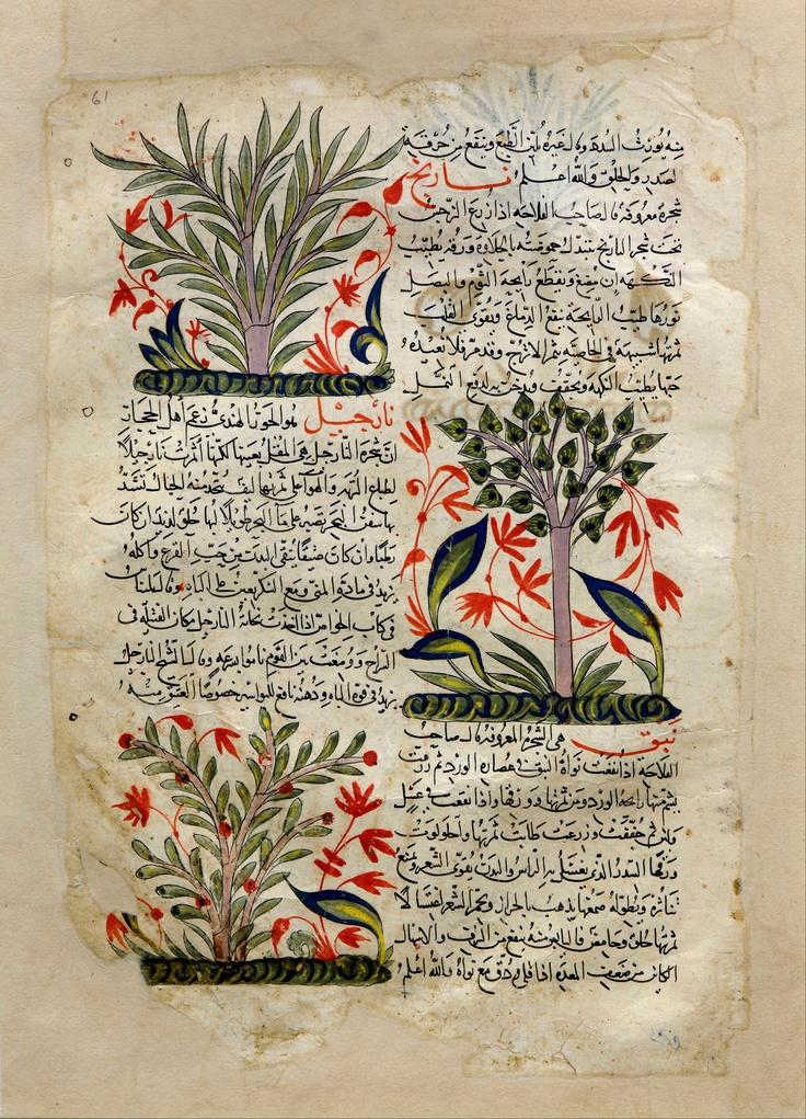 Arabic writing. Illustrations, Syria (1275-1300).