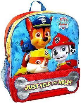 """Paw Patrol """"Just Yelp for Help"""" Backpack"""