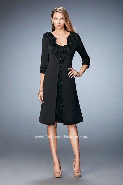 La Femme 21903 Wedding Guest Dress with Jacket