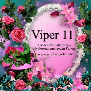 wirksame Antifaltencreme, wirksame Pickelcreme, wirksame Cellulitecreme: Viper 11, Antifaltencreme