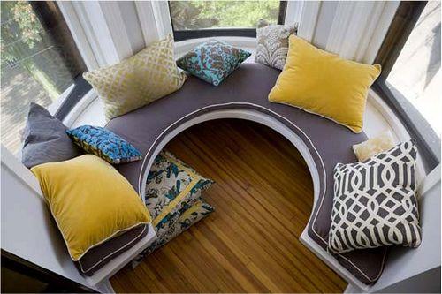 Window seats!Ideas, Bays Windows, Windows Benches, Dreams, Windows Seats, Bay Windows, Reading Nooks, House, Window Seats