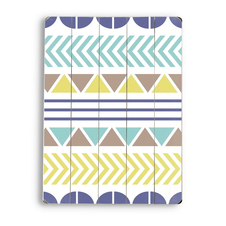 20 in. Color Pattern Wall Art. Love this color pallet and the geometric shapes and arrows. Perfect for my living room