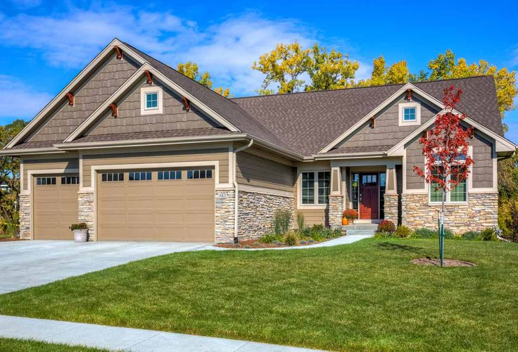 Ironwood homes rock on front of house home exterior for Hardiplank house plans