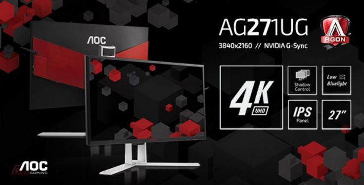 AOC AGON το πρώτο 4K IPS μοντέλο και NVIDIA G-SYNC - https://wp.me/p3DBOw-EmG - Η AOC παρουσιάζει το πρώτο 4K μοντέλο της premium σειράς gaming οθονών AGON. Η AOC AGON AG271UG διαθέτει ένα εντυπωσιακό 27″ (68,6 εκ.) 4K IPS panel, το οποίο ζωντανεύει τα πιο πρόσφατα games της αγοράς με εξαιρετικά λεπτομερή γραφικά UHD και α