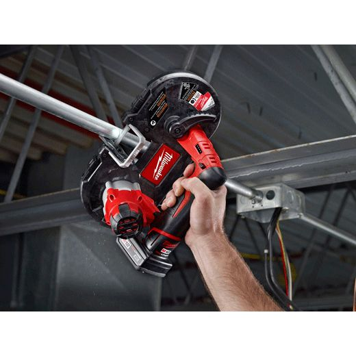 Forget fatigue, the Milwaukee® 2429-21XC M12™ Sub-Compact Band Saw is the most compact and lightest weight cordless band saw on the market.