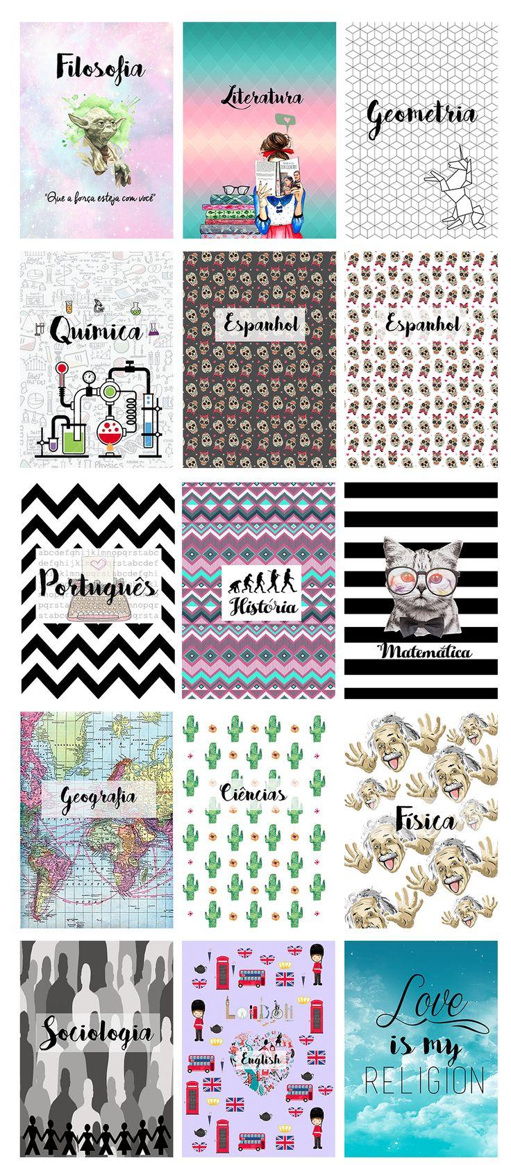 Todas essas capas personalizadas você encontra no blog disponível para download (: