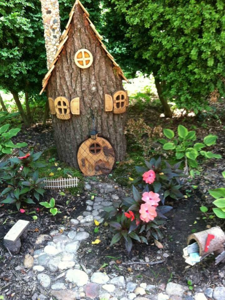 Tree Stump House Fairy Garden A K A Gnome Home