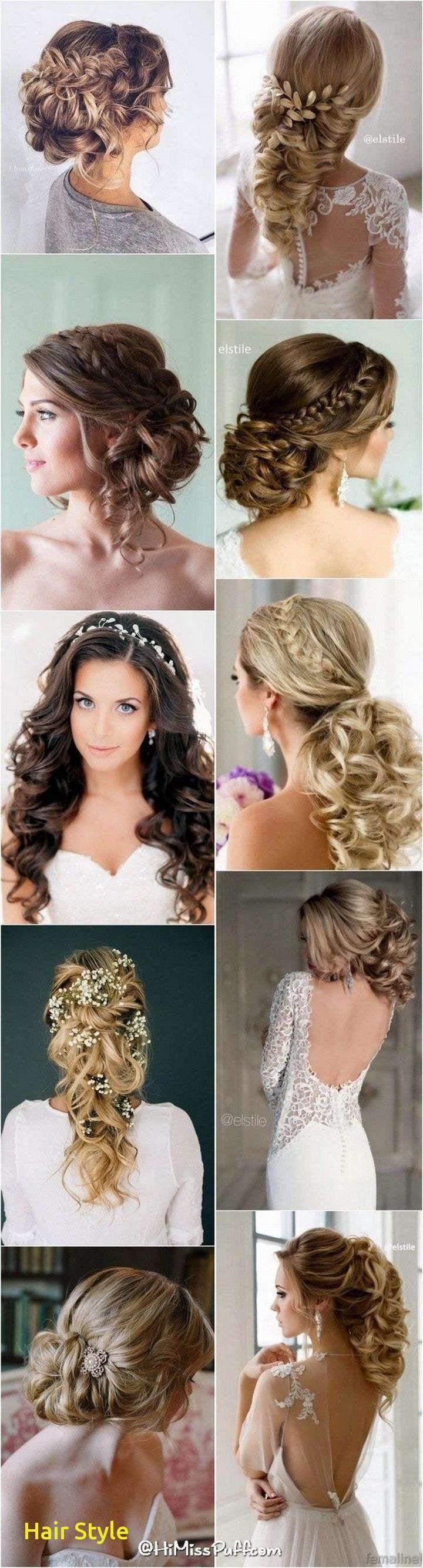 Ehrfürchtige lange Haar-Hochzeits-Frisuren mit Tiara