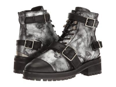 The Kooples - Vintage Shiny Leather (Silver) Women's Boots